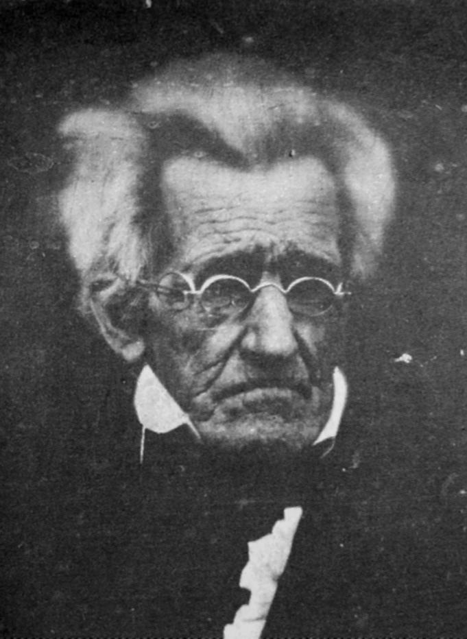 Photograph of Andrew Jackson taken in 1845